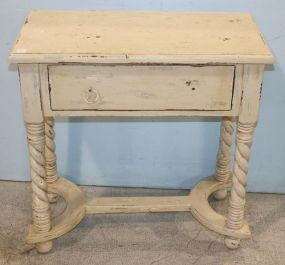 White Disstressed Wall Console