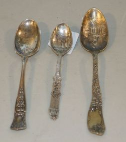 Three Sterling Silver Spoons