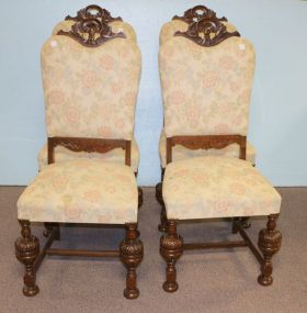 Set of Four Upholstered Depression Chairs