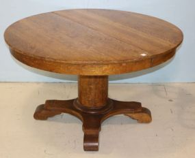 Empire Round Oak Table with Leaves