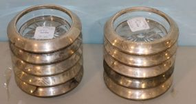 Ten Frank Whiting Sterling Banded Coasters