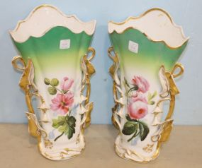 Pair of Hand Painted Paris Porcelain Vases