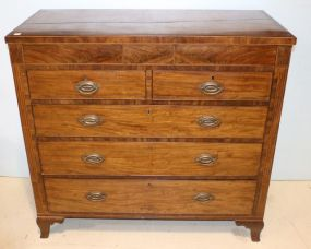English String Inlaid Bracket Foot Chest