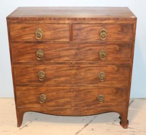 English Mahogany Five Drawer Chest