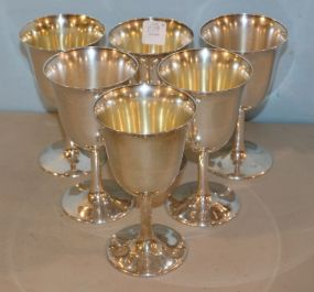 Six Sterling Frank M. Smith Goblets