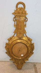 Rope and Swag Gilded Barometer By Palladio Italy