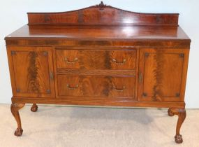 Ball and Claw Mahogany Sideboard with Two Drawers and Two Cabinet Doors
