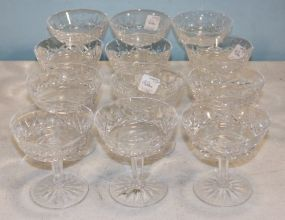 Twelve Waterford Lismore Champagne Coupes