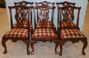 Six Mahogany Chippendale Dining Chairs