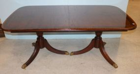 Mahogany Banded Double Pedestal Dining Table