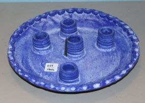 Blue McCarty Five Light Candle Holder