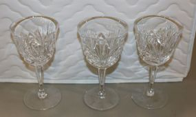 Nineteen Gorham Cherrywood Wine Glasses