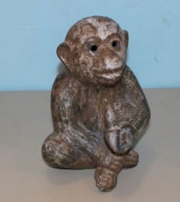Peter's  Pottery Nutmeg Monkey