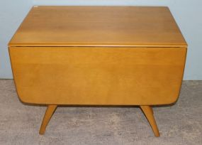 Heywood Wakefield Mid Century Modern Butterfly Drop Leaf Extension Table in Wheat