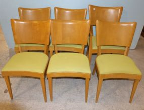 Heywood Wakefield Mid Century Modern  Dining Chairs in Wheat Finish
