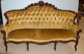 Heavy Carved Victorian Sofa