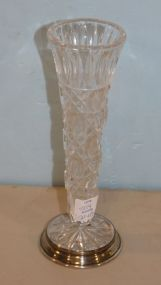 Sterling Base Crystal Vase
