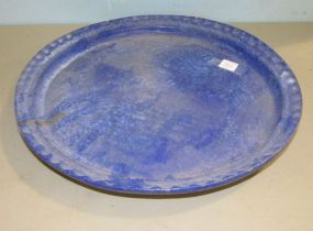 McCarty Blue Thumbprint Platter