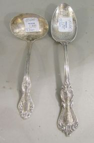 National Sterling Silver Ladle  and  Reed and Barton Sterling Table Spoon