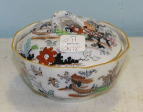 Mason's Ironstone China Lidded Soap Dish in Pagoda Pattern Circa 1890's with Strainer