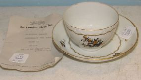 Chinese Export Porcelain Tea Bowl and Saucer