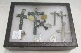Group Lot of Crucifixes and Medallions