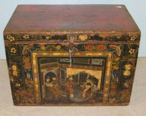 Hand Painted Asian Style Trunk