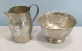 International Sterling Silver Revere Reproduction Creamer and Sugar