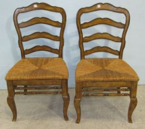 Pair of Country French Side Chairs