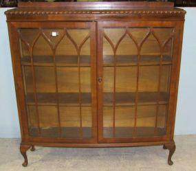 Mahogany Curio / Bookcase Cabinet