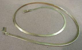 14K Yellow Gold Herringbone Chain