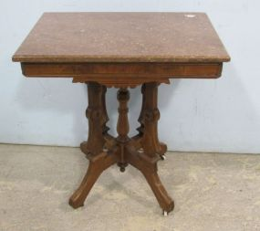 Tennessee Marble Top Eastlake Table