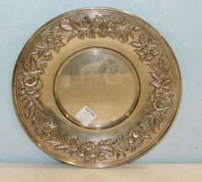 S Kirk & Son Sterling Repousse Plate