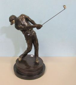 Laran Ghiglieri Numbered Bronze Golfer