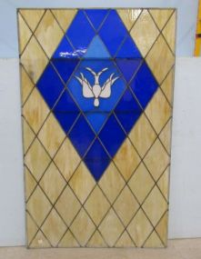 Large Leaded Glass Window Insert