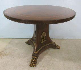 Round Italian Style Pedestal Table