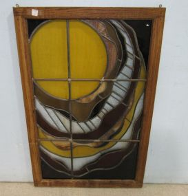 Hanging Framed Leaded Stain Glass