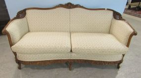 French Style Ornate Carved Parlor  Sofa