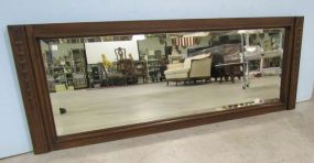 Oak Carved Beveled Mirror