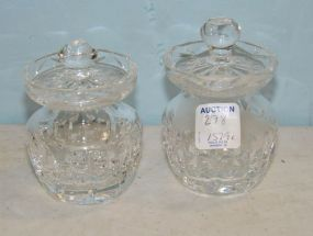 Two Waterford Jam Jars