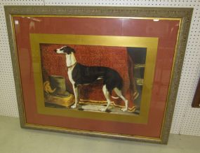 Large John-Richard Print of Whippet