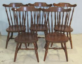 Five Windsor Style Dining Chairs