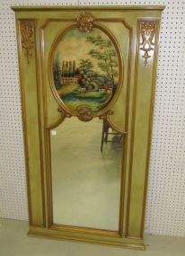 Reproduction Painted Trumeau Mirror