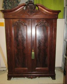 Antique Victorian Two Door Waredrobe