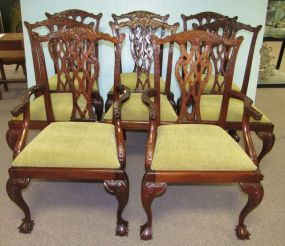 Eight Ball-n-Claw Chippendale Style Dining Chairs