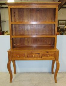 Two Piece Pine Hutch