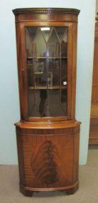 Mahogany Curio Corner Cabinet