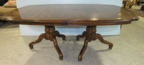 Henredon French Style Double Pedestal Table