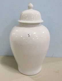 Large White Ceramic Temple Jar