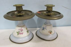 Pair of Old Paris Style Candleholders